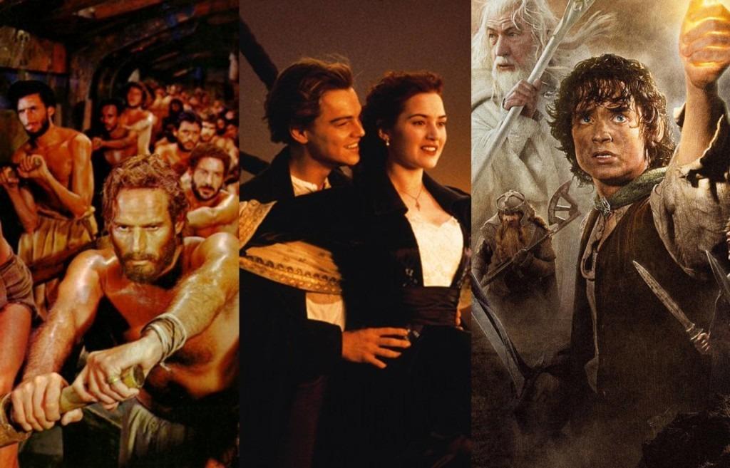 Ben Hur Titanic e Senhor dos Anéis