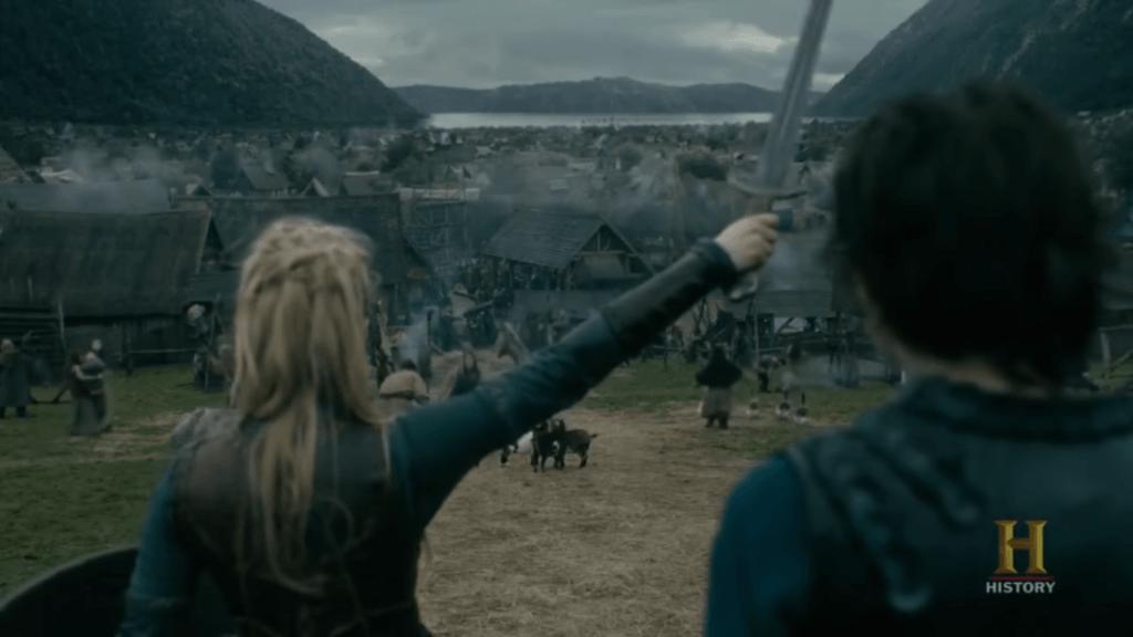 batalha em Kattegat, em Vikings