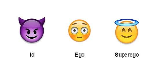 id ego e superego em emojis