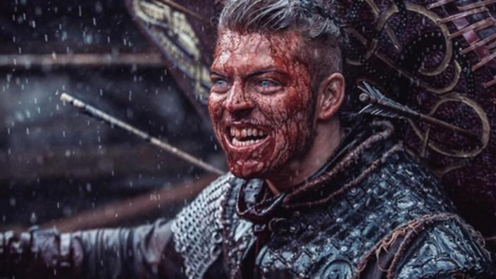 Ivar ensanguentado em Vikings