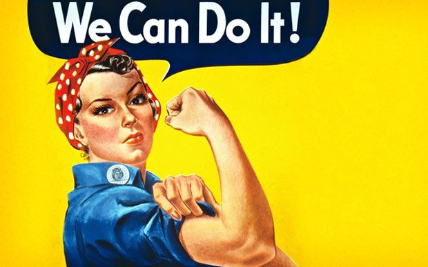 "pinup feminista ""We can do it"""
