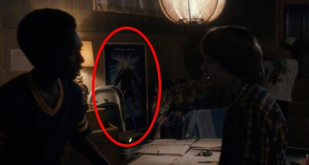 poster de enigma do outro mundo no quarto de Will em Stranger Things