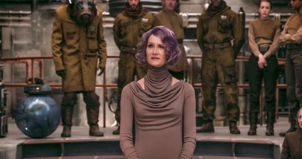 Almirante Holdo em Os Últimos Jedi