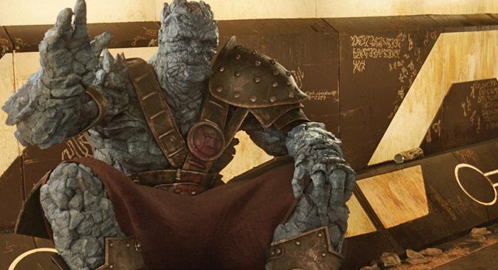 Korg em Thor Ragnarok - criatura fofa de 2017