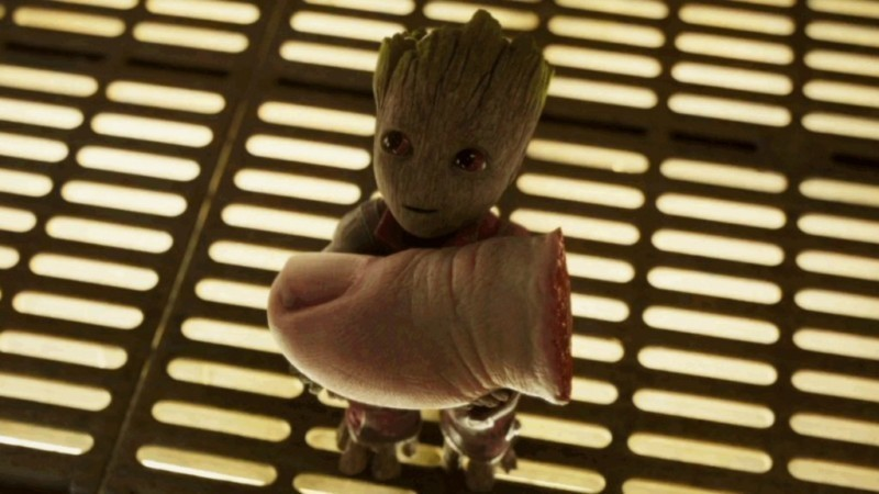 baby Groot e dedo - momentos WTF de 2017