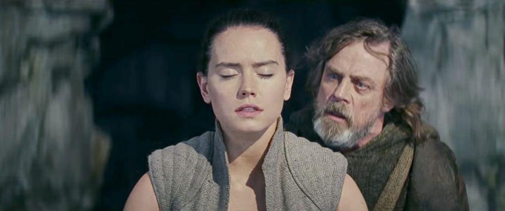 Luke e Rey em Os Últimos Jedi