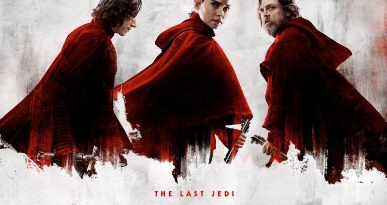 Kylo Ren, Rey e Luke em Os Últimos Jedi