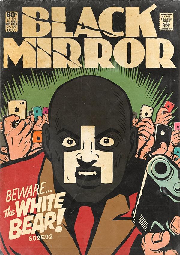 Black Mirror - Vintage HQs - White Bear