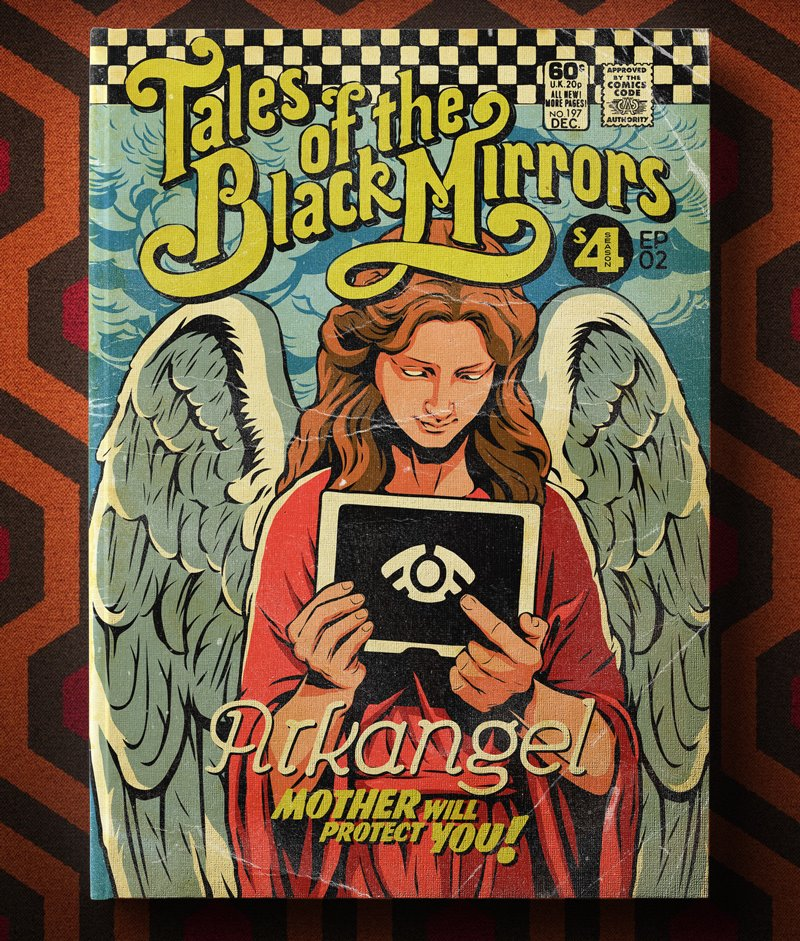 Poster Vintage de Black Mirror - Arkangel