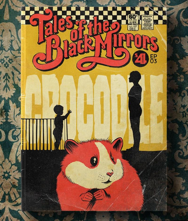 Poster Vintage de Black Mirror - Crocodile