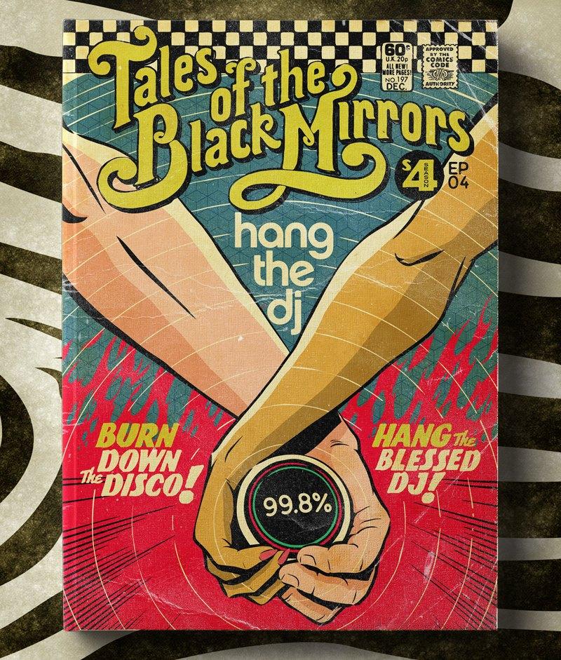 Poster Vintage de Black Mirror - Hang the DJ