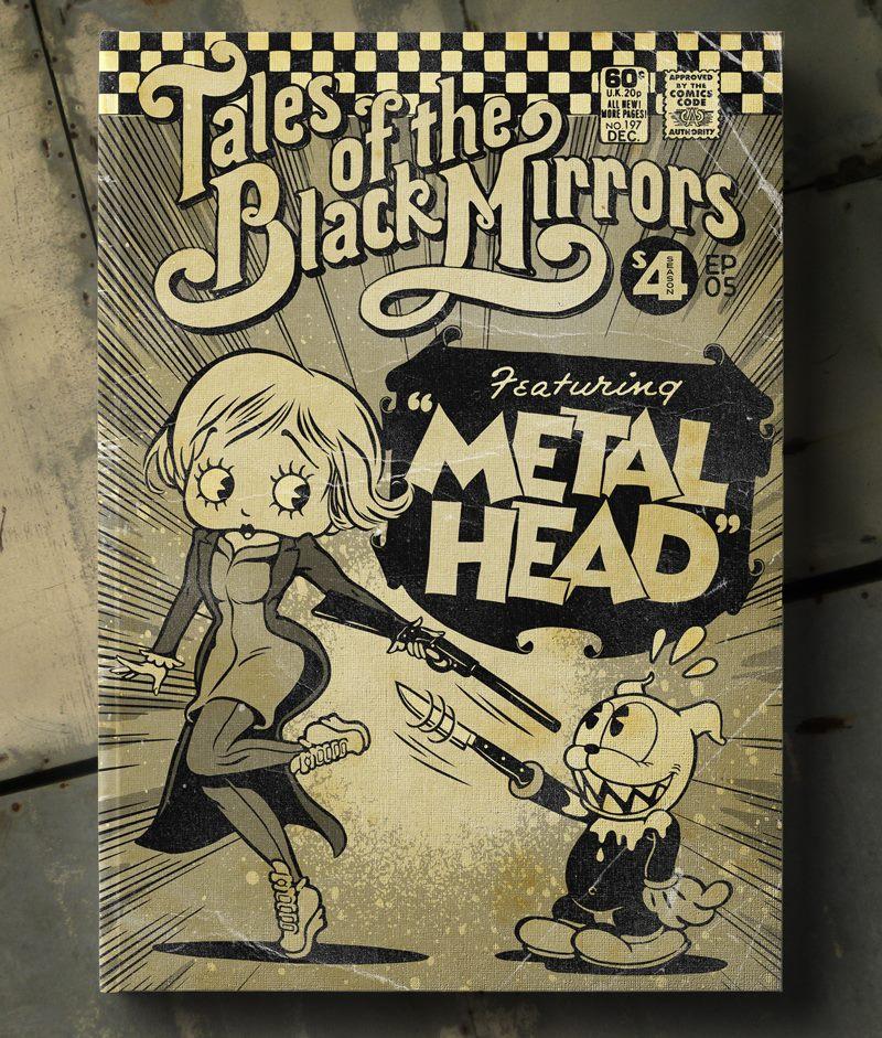 Poster Vintage de Black Mirror - Metalhead