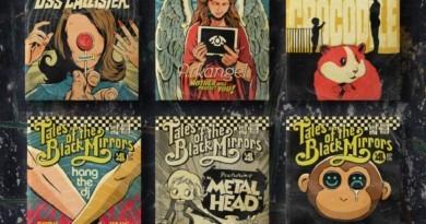Posters Vintage de Black Mirror - Todos os episódios