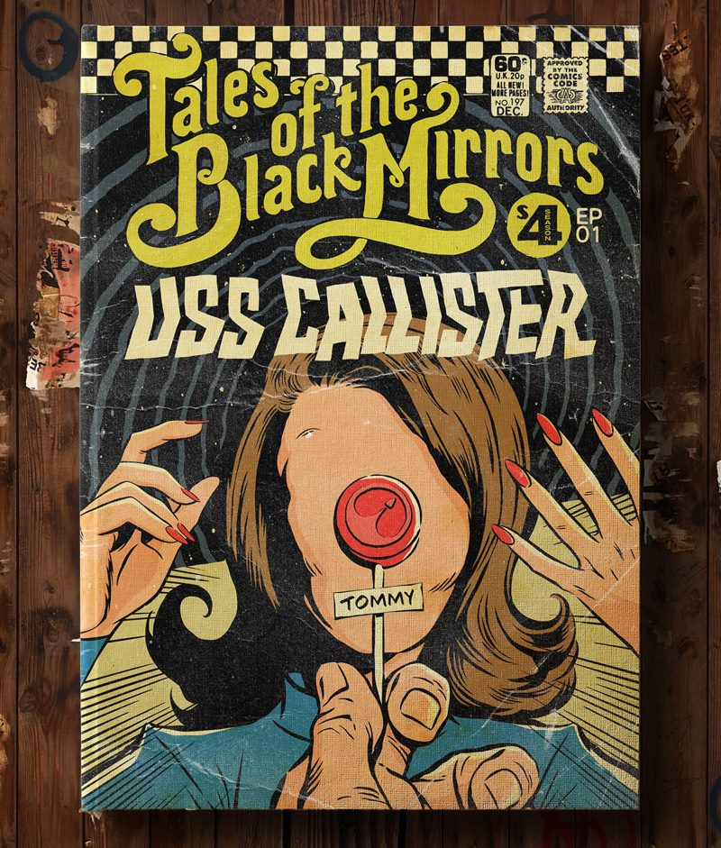 Poster Vintage de Black Mirror - USS Callister