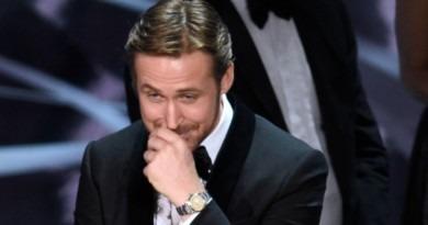 Ryan Gosling constrangido no Oscar 2017
