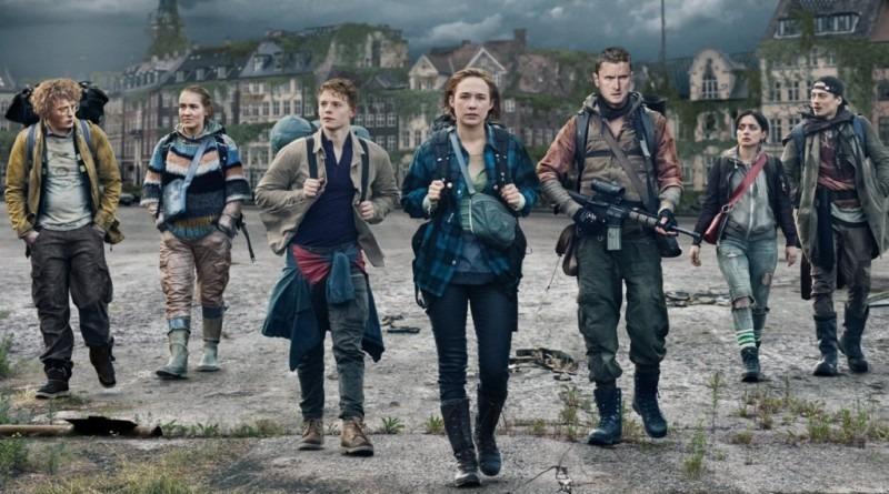 Elenco principal da primeira temporada (da esquerda à direita), Jean, Lea, Rasmus, Simone, Martin, Beatrice e Patrick